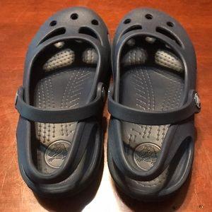 Crocs Blue Sandals Size 10